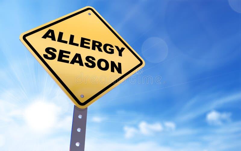 Alergia sezonu znak royalty ilustracja