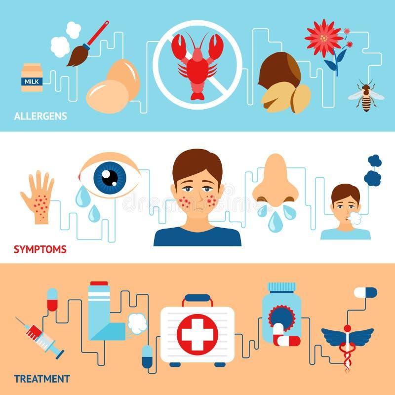 Alergia sztandaru set royalty ilustracja