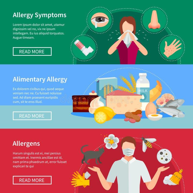 Alergia sztandary Ustawiający ilustracji