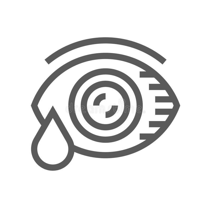 Alergia y línea icono del vector de los alergénicos stock de ilustración