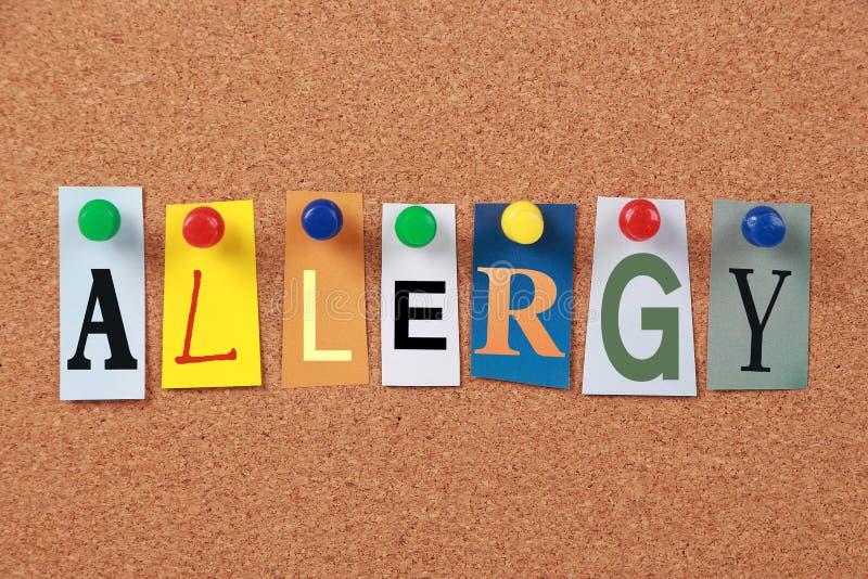 Alergii jedno słowo obrazy stock