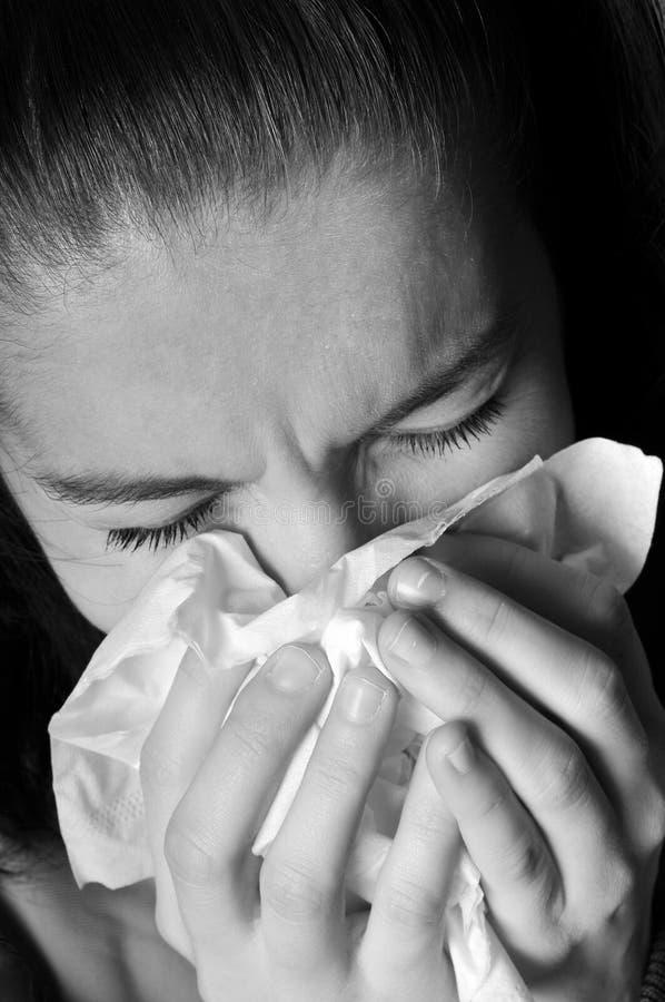 alergii zimna grypa zdjęcia royalty free