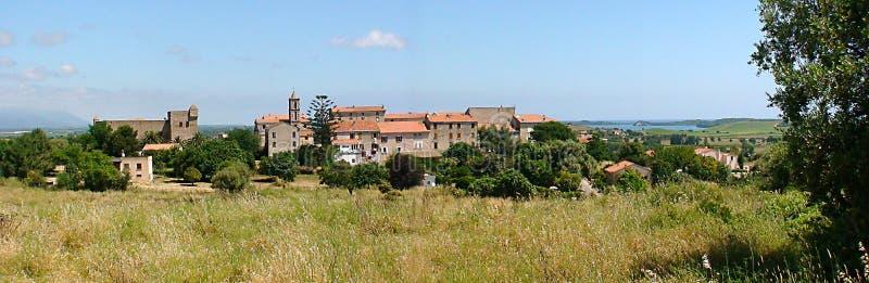 Aleria村庄在Corsiaca 免版税图库摄影