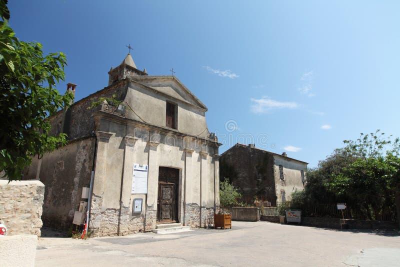 Aleria -可西嘉岛的教会 免版税库存图片