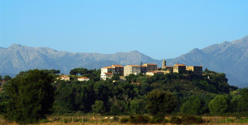 Aleria Korsika Dorf stockfotografie
