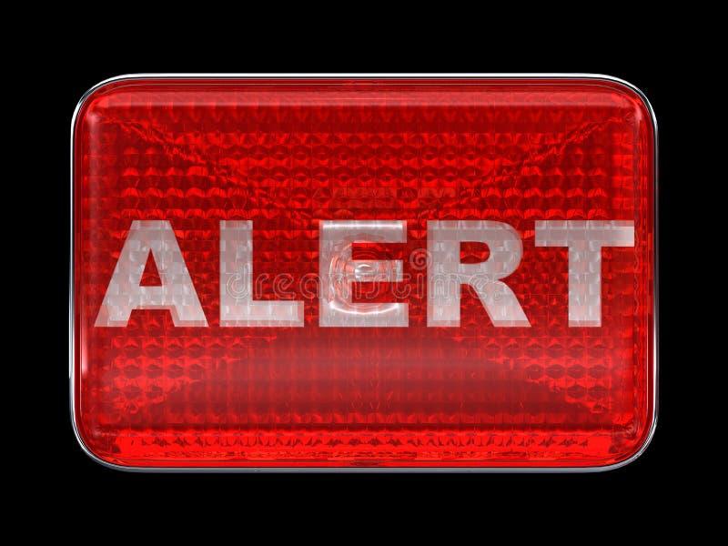 Alert button or headlight isolated vector illustration
