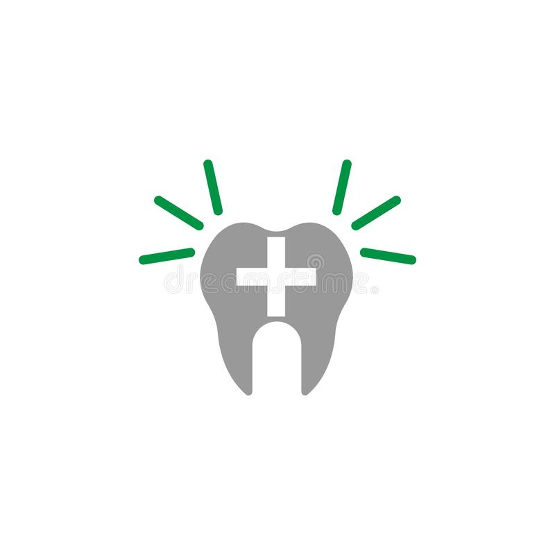 Alert and dentist icon. Element of Dental Care icon for mobile concept and web apps. Detailed Alert and dentist icon can be used. For web and mobile on white royalty free illustration