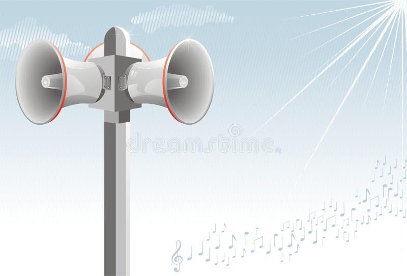 alert högtalare för alarm vektor illustrationer