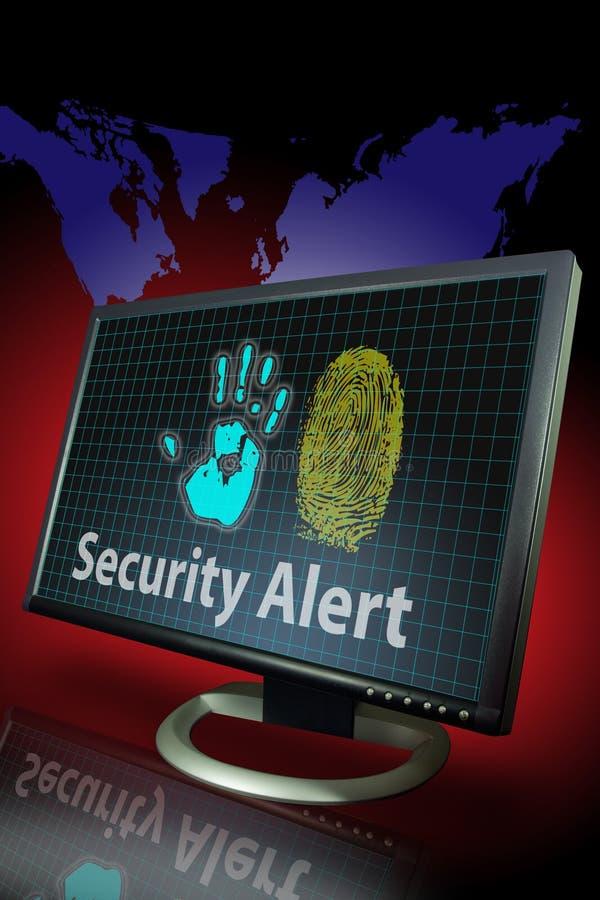 alert identitetstryckstöld stock illustrationer
