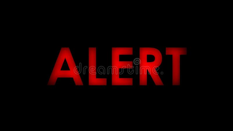 Alert red message text stock illustration