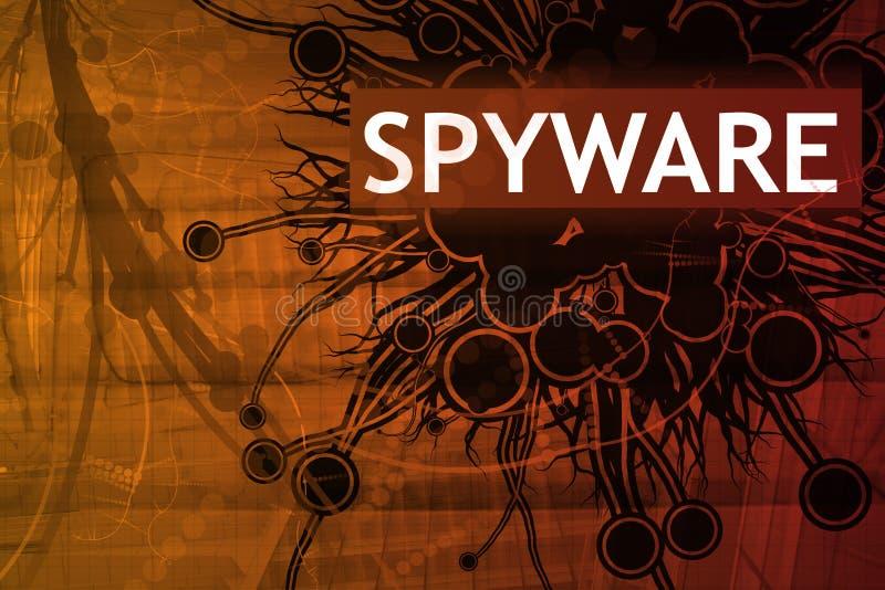 alert säkerhetsspyware stock illustrationer