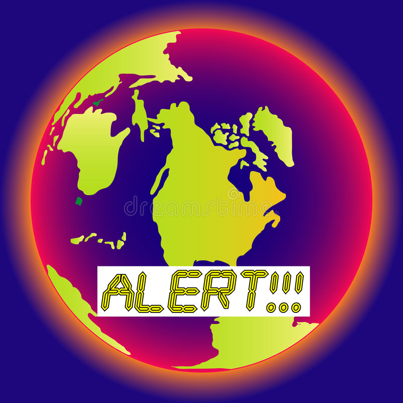 Alert! Stop the heating! royalty free illustration