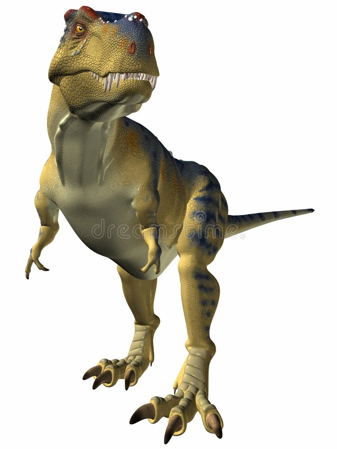 alert tyrannosaurus stock illustrationer