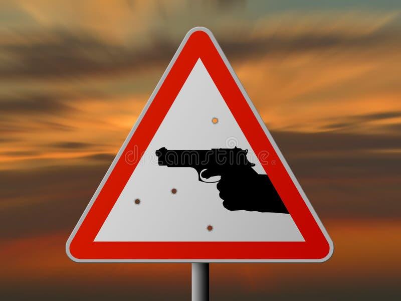 Alerta: ¡criminalidad! stock de ilustración