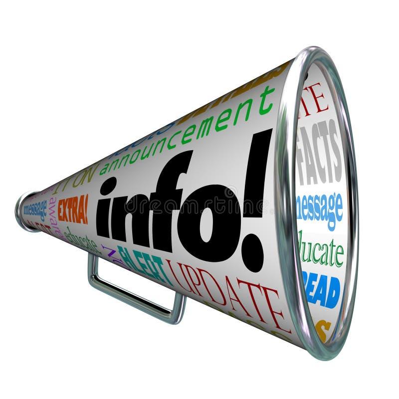 Alerta da atualização do megafone do megafone da informação da informação ilustração do vetor