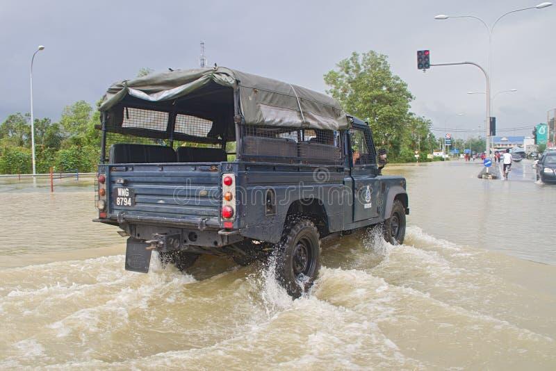 Alerta da inundação fotografia de stock