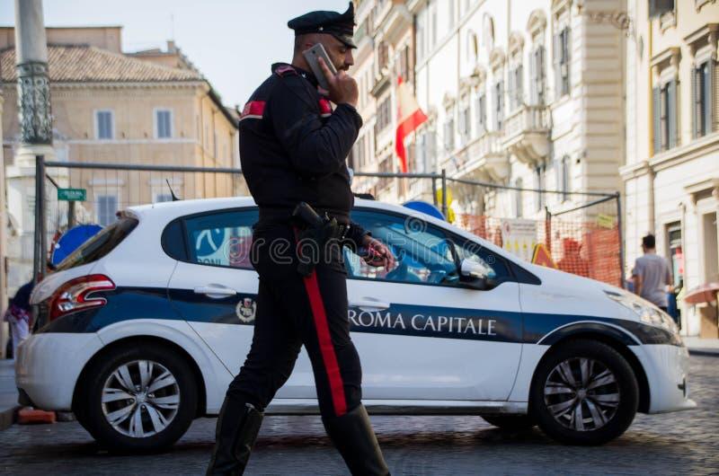 Alerta de alta segurança em Roma, Itália imagem de stock