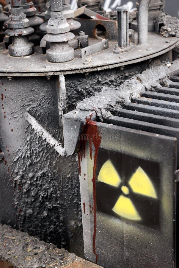 Alerta de la radiación fotografía de archivo