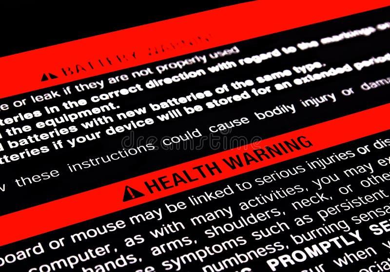 Alerta de la salud fotografía de archivo