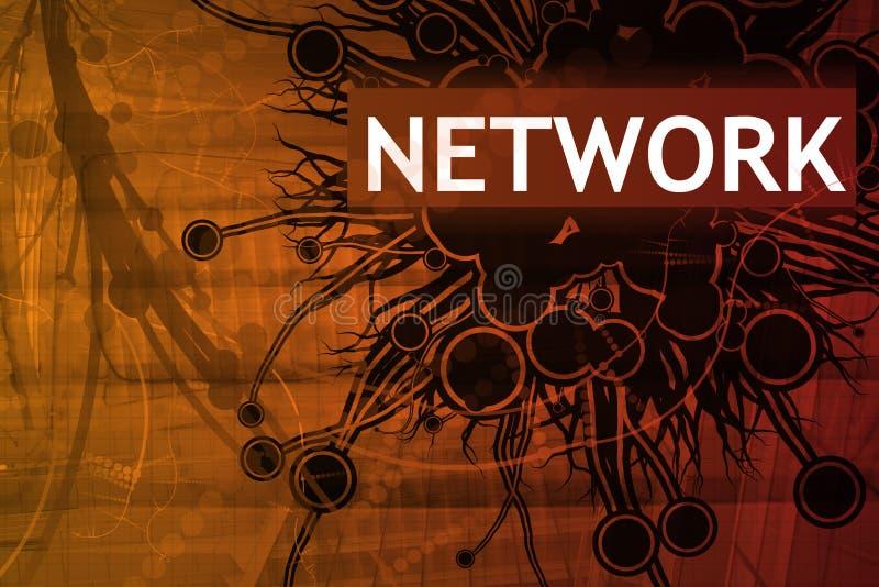 Alerta de segurança da rede ilustração do vetor