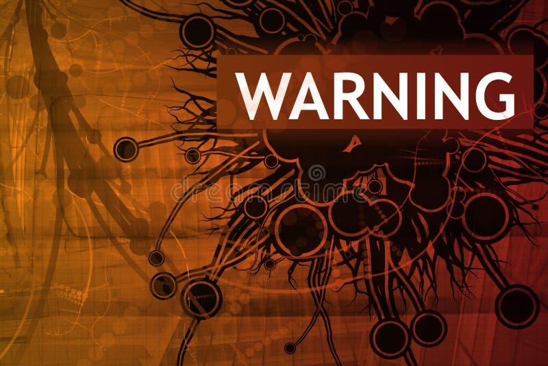 Alerta de segurança de advertência ilustração royalty free