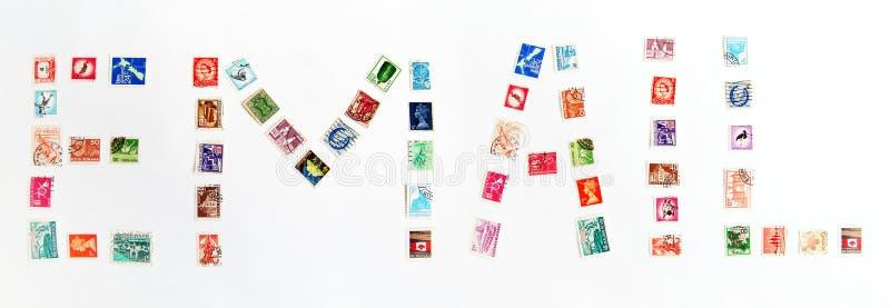 Alerta do email com selos imagem de stock royalty free
