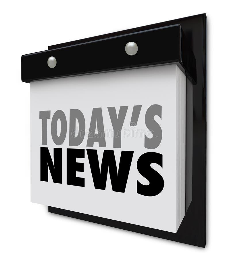 Alerta importante da informação de hoje da atualização do calendário da notícia ilustração do vetor