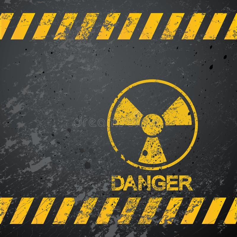 alerta nuclear del peligro ilustración del vector