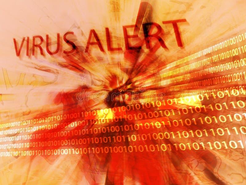 Alerte de virus illustration de vecteur