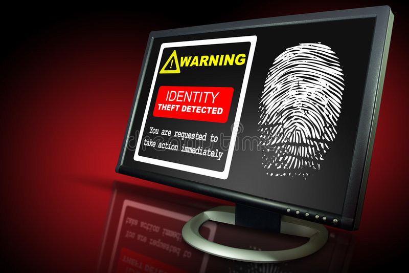 Alerte de vol d'identification photo stock