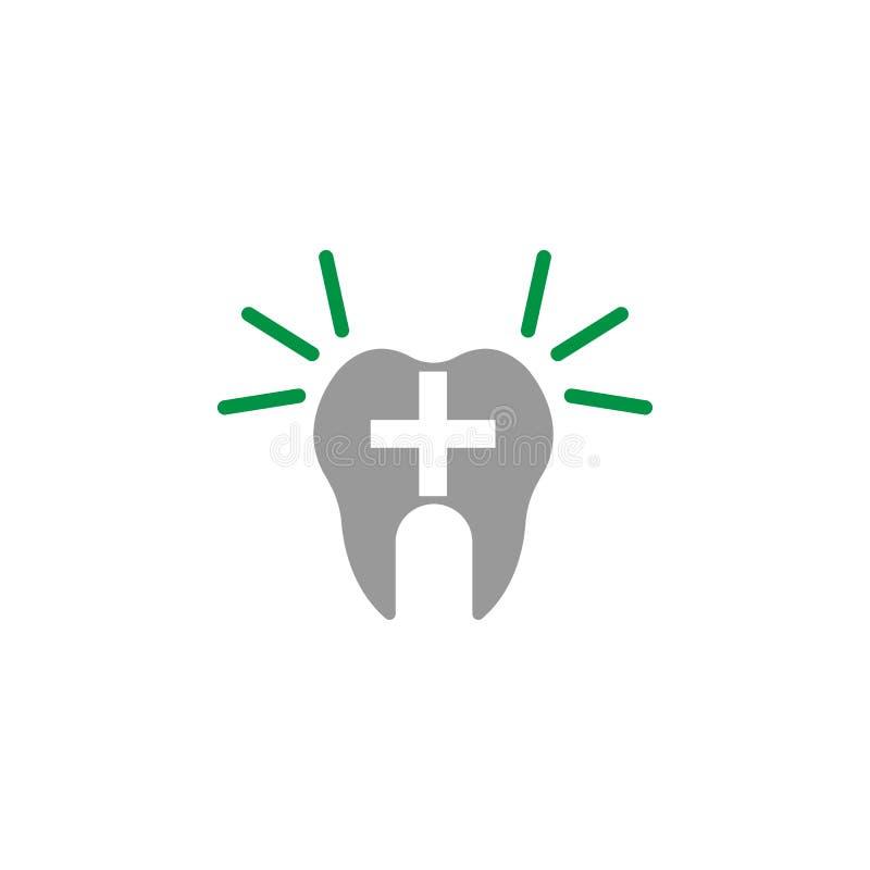 Alerte et icône de dentiste Élément d'icône de soins dentaires pour des applis mobiles de concept et de Web L'icône détaillée d'a illustration libre de droits