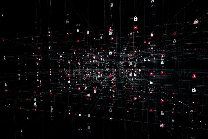 Alerte sécurité de technologie d'Internet image stock