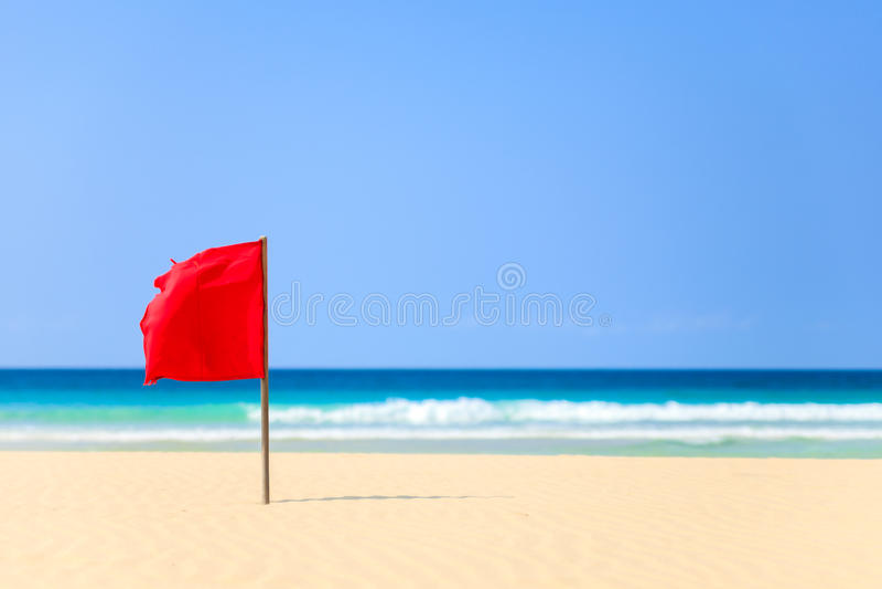Alerte sur la plage dans Boavista, Cap Vert - Cabo Verde image stock