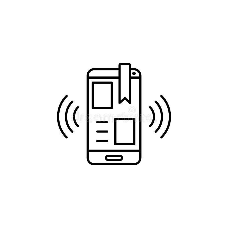Alerte, urgence, icône smartphone Élément de l'icône du toxicomane Icône de ligne mince pour la conception et le développement de illustration libre de droits