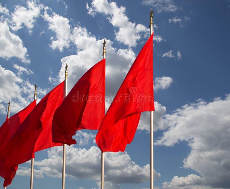 Alertes sur la Place Tiananmen --Pékin, Chine image stock