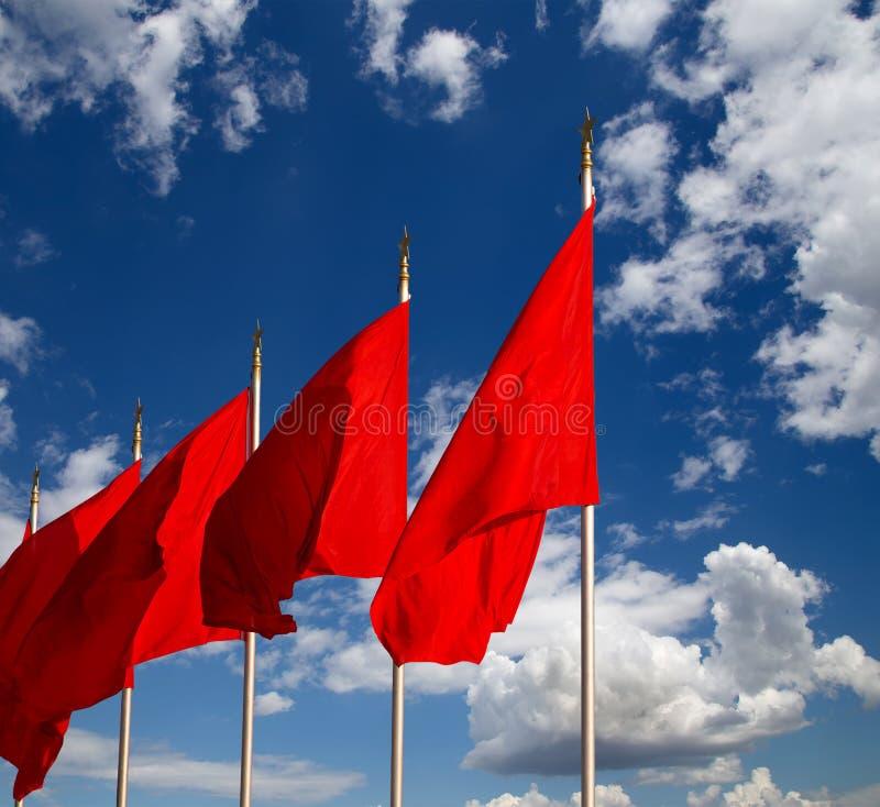 Alertes sur la Place Tiananmen -- Pékin, Chine image stock