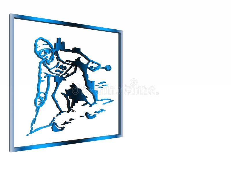 Alertez le signe, ski de Symbo régional. illustration stock