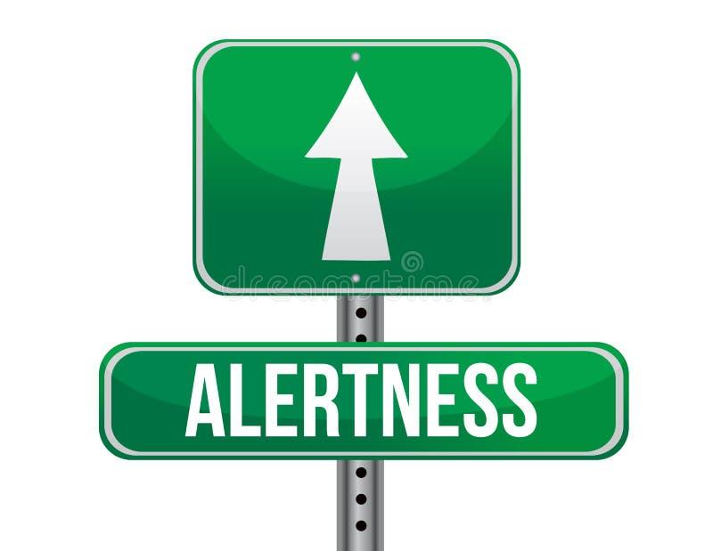 Alertness road sign illustration design. Over a white background royalty free illustration