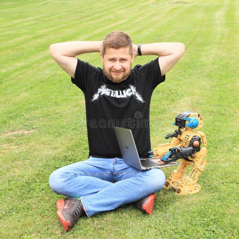 Ales Michl på gräs royaltyfri fotografi