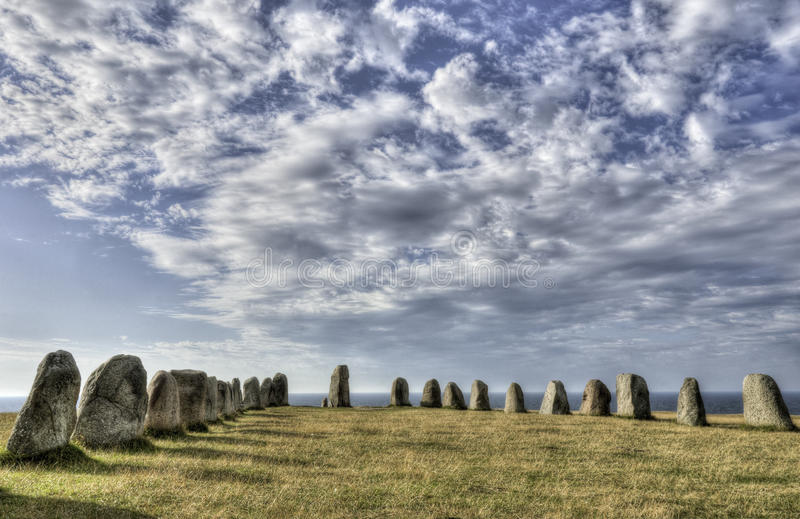 Download Ales Stenar, Sweden stock photo. Image of ancient, holiday - 27813438