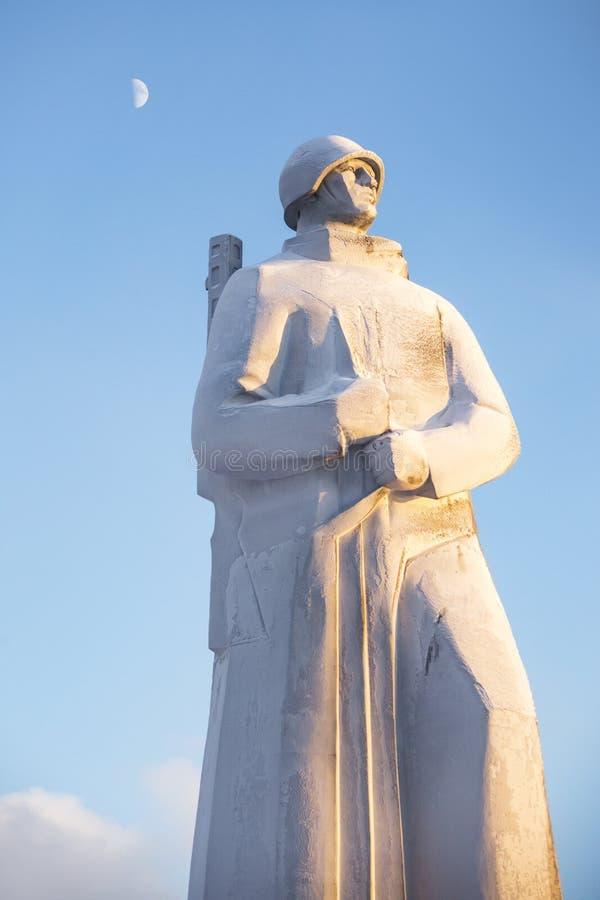 Alesha-Monument Verteidiger der sowjetischen Arktis murmansk lizenzfreie stockbilder