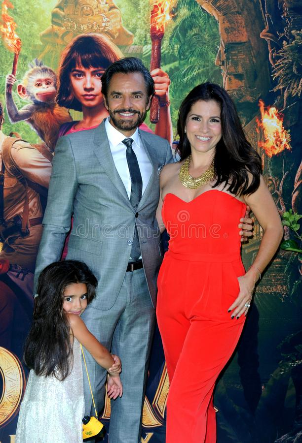 Alessandra Rosaldo, Aitana Derbez, Eugenio Derbez fotografia royalty free