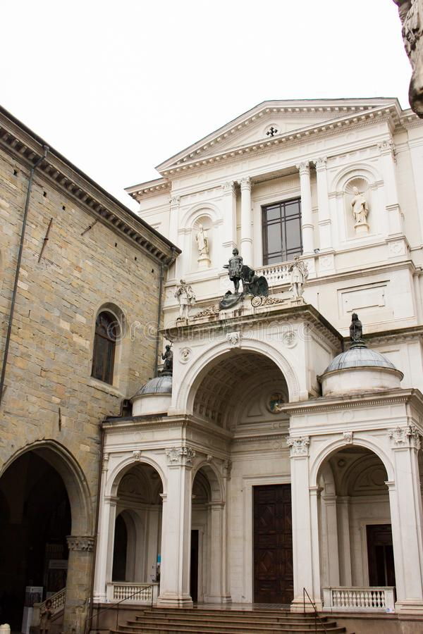` Alessandro di Bergamo, Italia di Cattedrale di Sant fotografia stock libera da diritti
