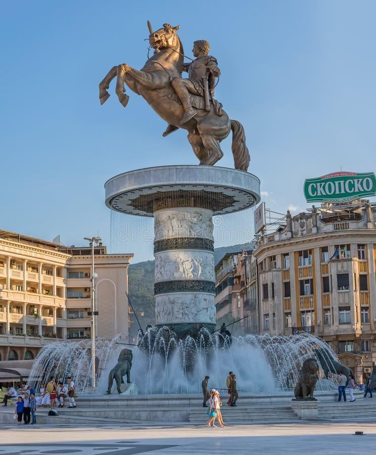 Alessandro Magno Skopje fotografia stock libera da diritti