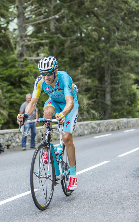 Alessandro Vanotti su Col du Tourmalet - Tour de France 2014 immagine stock
