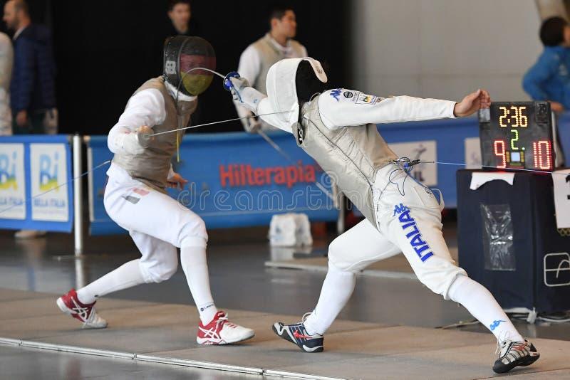 Sword FIE Fencing Grand Prix 2029 - Men stock photo