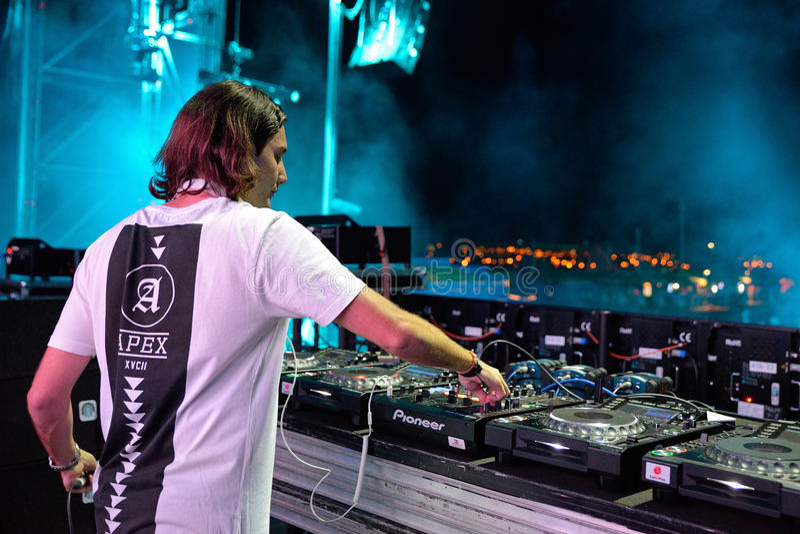 Alesso (Zweedse Deejay en de elektronische producent van de dansmuziek) royalty-vrije stock foto
