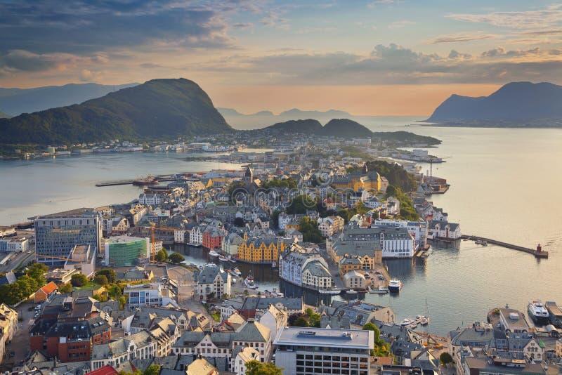 alesund挪威 免版税图库摄影