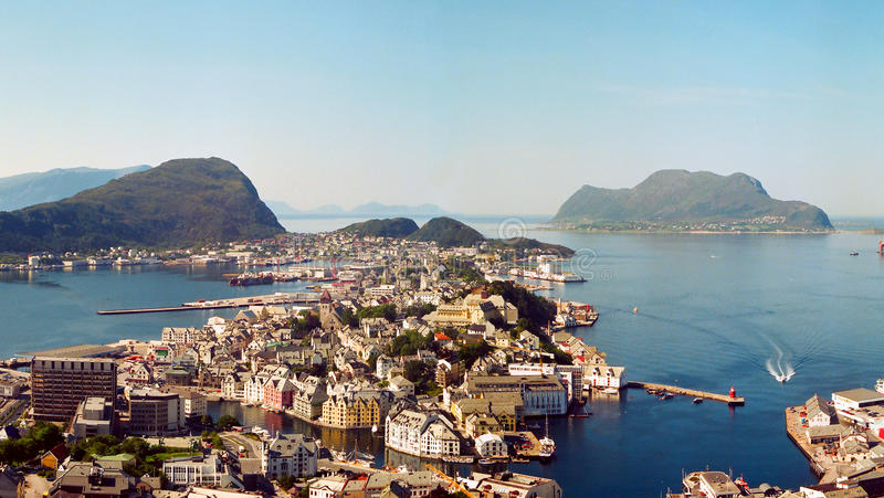 Alesund, Норвегия стоковое изображение