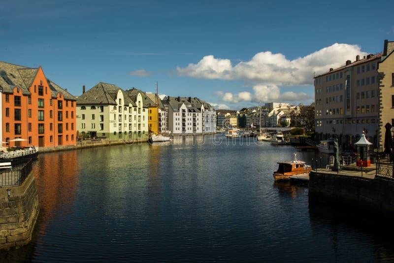 Alesund -挪威 库存图片